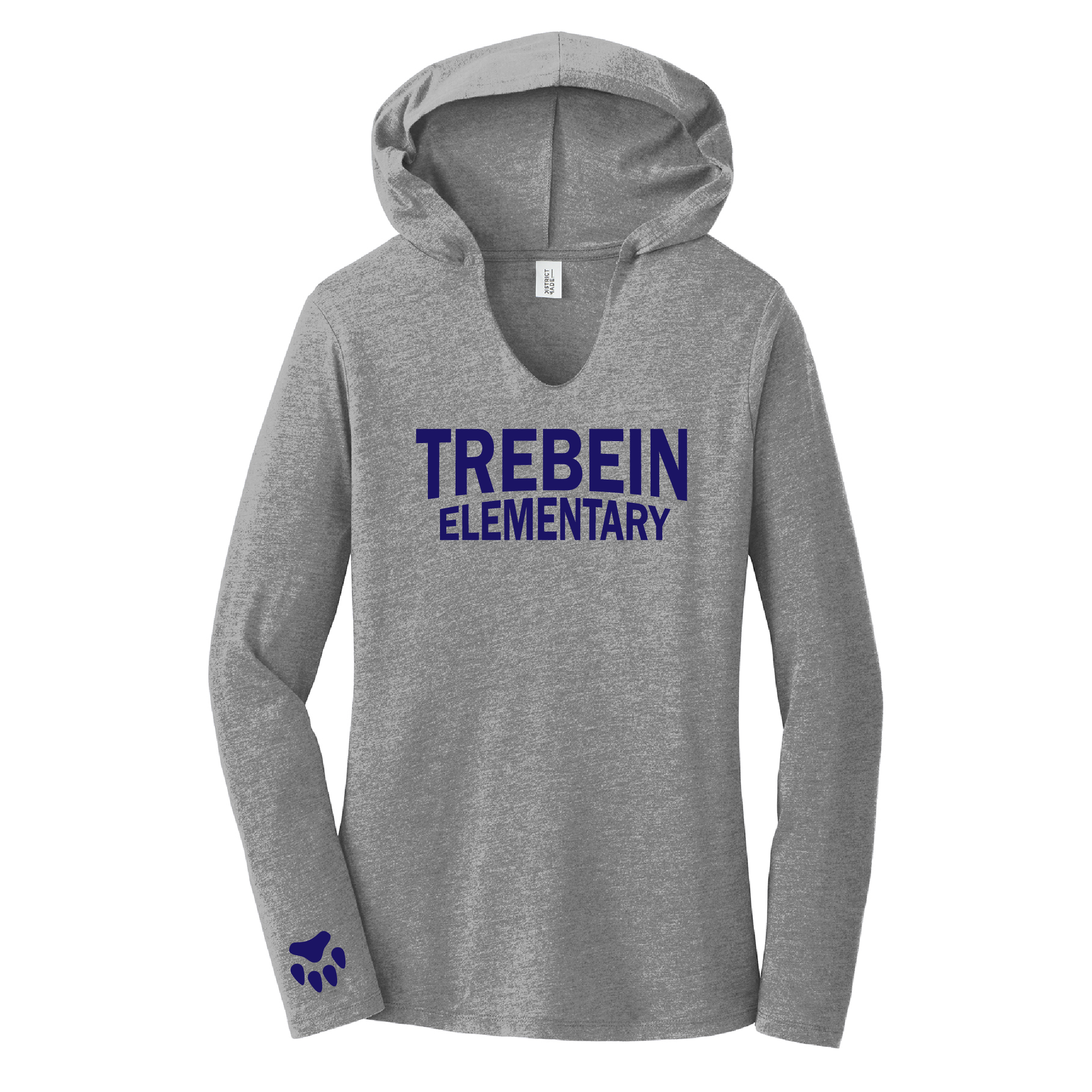 Trebein Elementary Ladies Tri-Blend Long Sleeve Hoodie