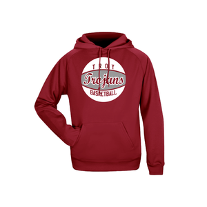 Troy Basketball Ladies Performance Fleece Hoodie