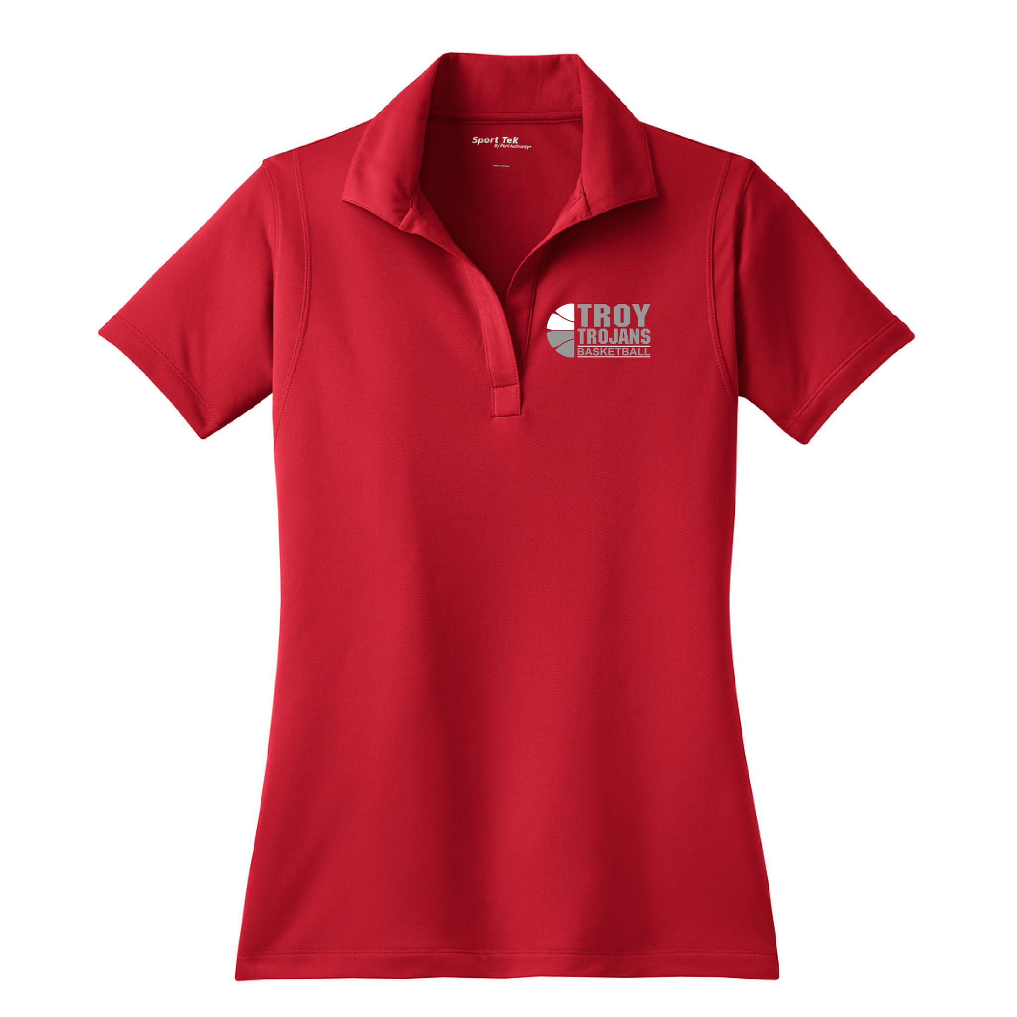 Troy Basketball Ladies Micropique Sport-Wick Polo