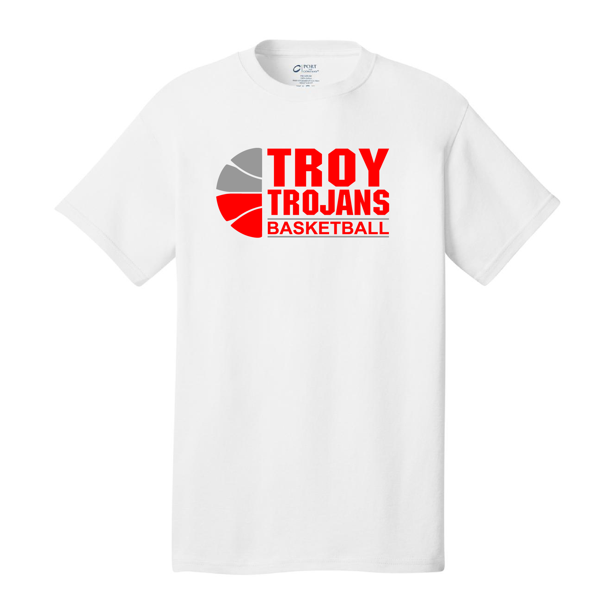 Troy Basketball White T-Shirt