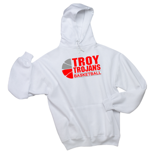 Troy Basketball White Hoodie
