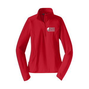 Troy Basketball Ladies Sport-Wick 1/2-Zip Pullover