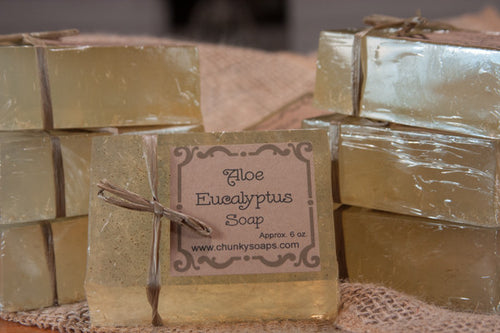 Handcrafted Aloe Eucalyptus Soap