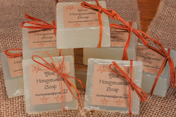 Aloe Honeysuckle Handcrafted Soap