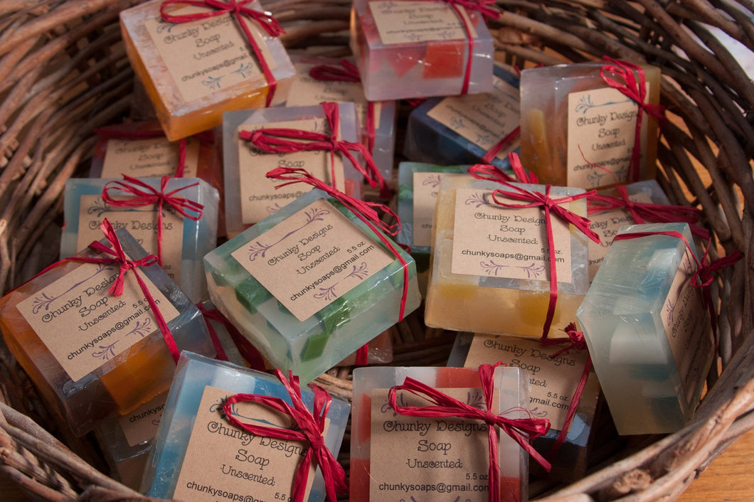 Unscented Handcrafted Chunky Soap
