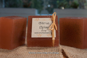 Handcrafted Citrus Spice Soap