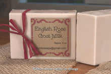 Load image into Gallery viewer, Handcrafted English Rose Goat Milk Soap