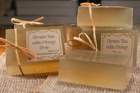Green Tea with Honey Soap (6 oz.)