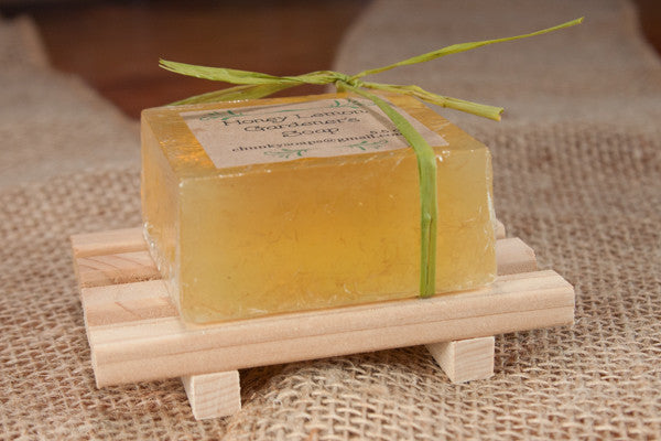 Handcrafted Square Soap and Cedar Wood Deck