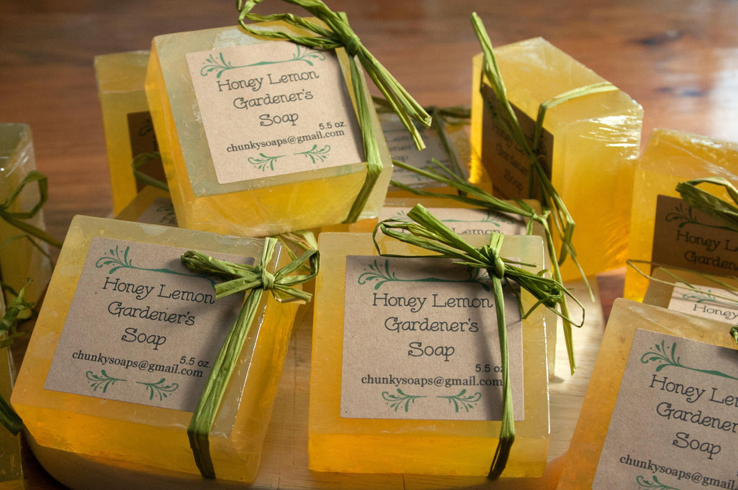 Handcrafted Honey Lemon Gardener's Soap