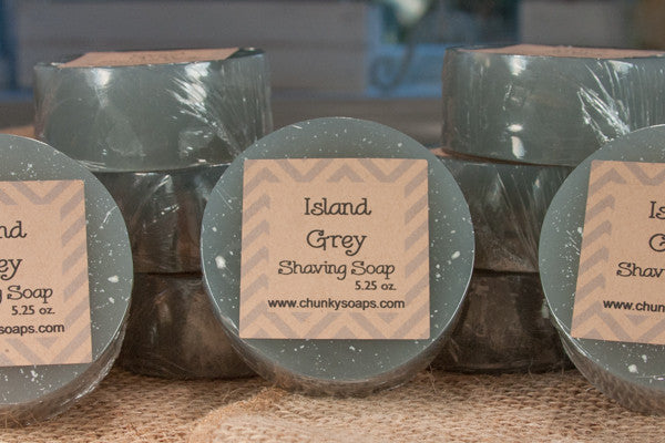 Island Grey Handcrafted Shaving Soap