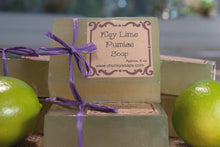 Load image into Gallery viewer, Handcrafted Key Lime Pumice Soap