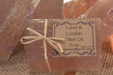Load image into Gallery viewer, Handcrafted Lilac & Loofah Olive Oil Soap