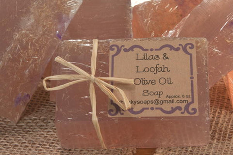 *Lilac & Loofah Olive Oil Soap (6 oz.)