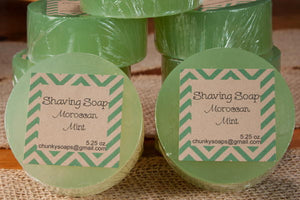 Handcrafted Moroccan Mint Shaving Soap