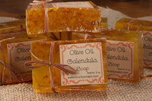 Load image into Gallery viewer, Handcrafted Olive Oil Calendula Soap