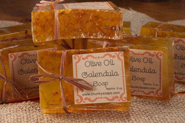 Handcrafted Olive Oil Calendula Soap