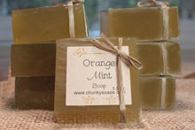 Load image into Gallery viewer, Handcrafted Orange Mint Soap