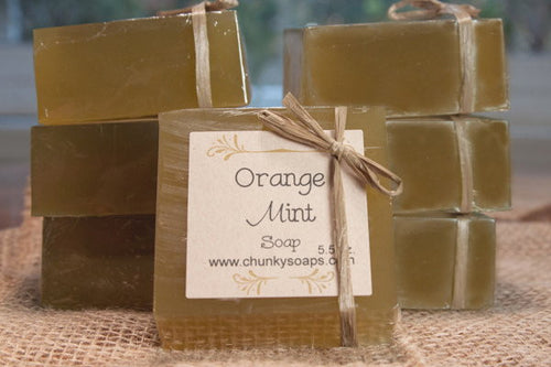Handcrafted Orange Mint Soap