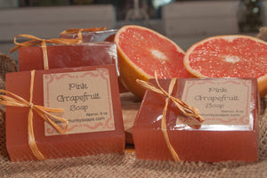 Handcrafted Pink Grapefruit Soap