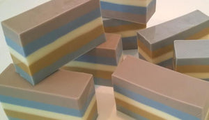 Vanilla-Mint Striped Soap (6 oz.)