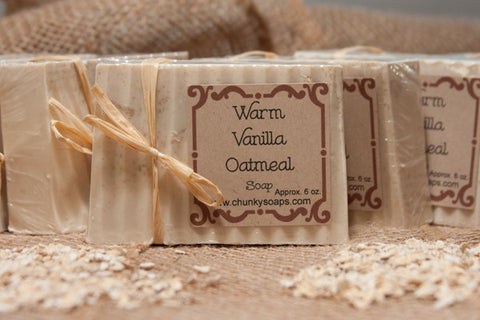 Warm Vanilla Oatmeal Soap (6 oz.)