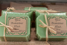 Load image into Gallery viewer, Aloe Cucumber Kiwi Handcrafted Soap