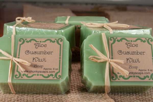 Aloe Cucumber Kiwi Handcrafted Soap