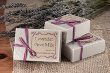 Load image into Gallery viewer, Handcrafted Lavender Goat Milk Soap