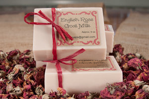Handcrafted English Rose Goat Milk Soap