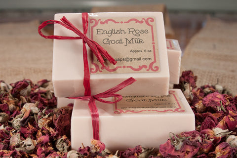 English Rose Goat Milk Soap (6 oz.)