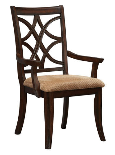 Appleton Arm Chair - Rich Brown Cherry - Huffman Koos Furniture