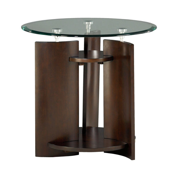 Lucy Round End Table - Huffman Koos Furniture