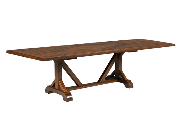 Suede Trestle Table - Huffman Koos Furniture