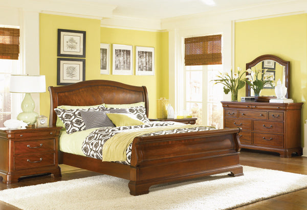 Villa Grand Four Piece King Bedroom Set - Huffman Koos Furniture