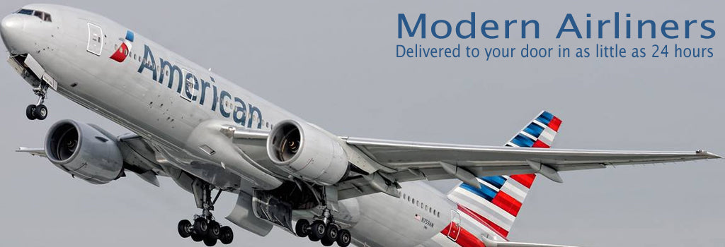 Modern Airliner Models, Ready to ship to your door in as little as 24 hours