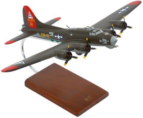 Boeing B-17G Flying Fortress (Olive) Mahogany Model
