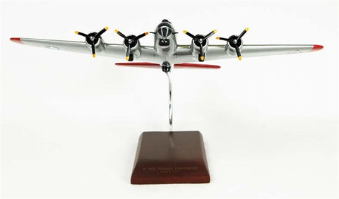 Boeing B-17G Flying Fortress (silver) 1/72 Scale Mahogany Model