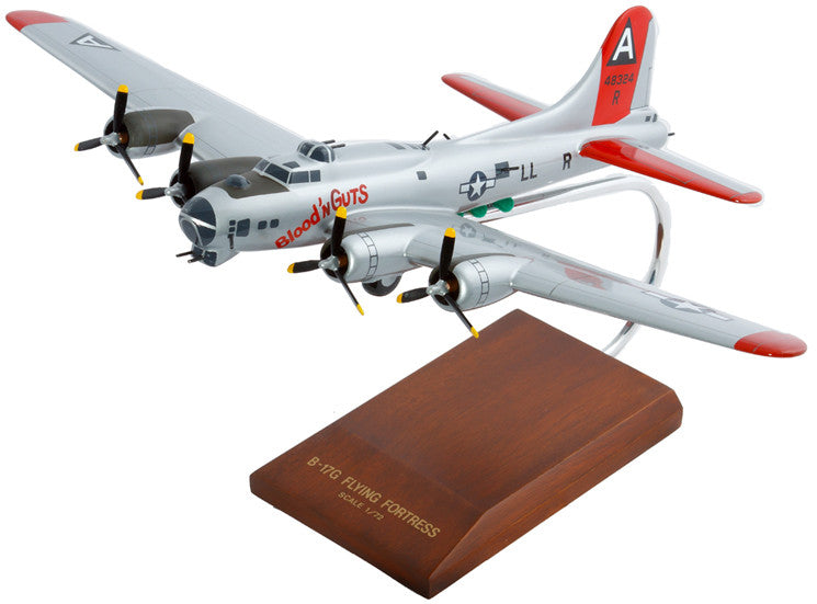Boeing B-17G Flying Fortress (silver) Mahogany Model