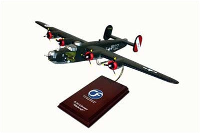 "Consolidated Aircraft B-24J ""Witchcraft"" 1/60 Scale Mahogany Model"