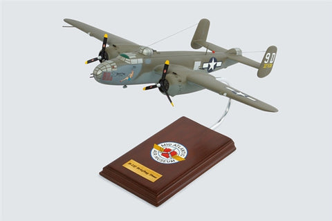 "North American Aviation Mitchell B-25J ""Briefing Time"" 1/41 Scale Mahogany Model"