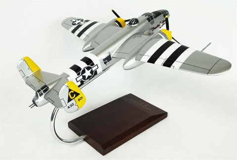 "North America Aviation B-25J Mitchell ""Executive Sweet"" 1/48 Scale Mahogany Model"