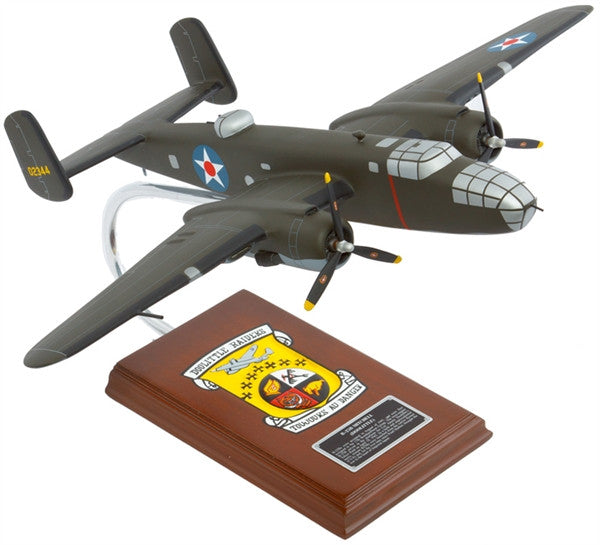Mitchell B-25B Doolittle 1/41 Scale Mahogany Model