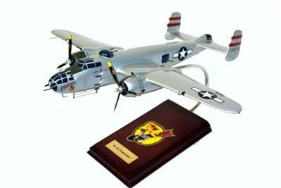 "North American Aviation B-25J ""Panchito"" 1/41 Scale Mahogany Model"