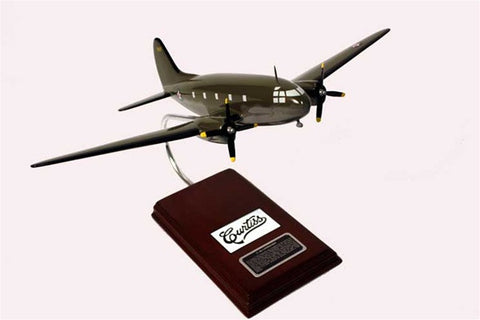 Curtiss-Wright C-46 Commando 1/72 Scale Mahogany Model