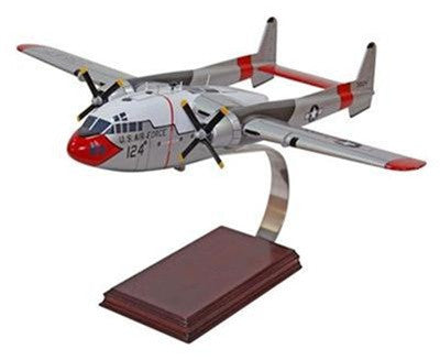 C-119 Flying Boxcar 1/72 Scale Mahogany Model