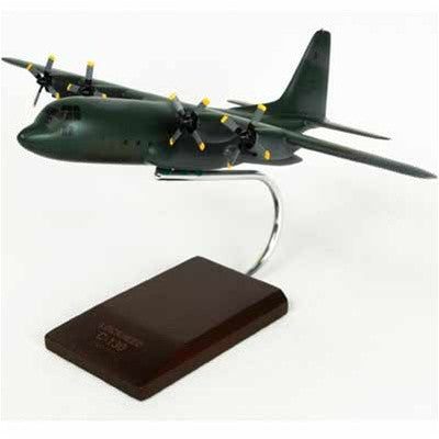 Lockheed C-130H Hercules Gunship (E-1) 1/100 Scale Mahogany Model