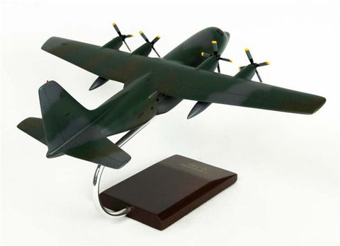 Lockheed C-130H Hercules Gunship 1/100 Scale Mahogany Model
