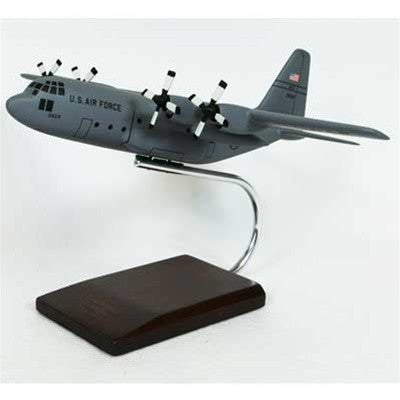 Lockheed C-130H Hercules Grey 1/100 Scale Mahogany Model
