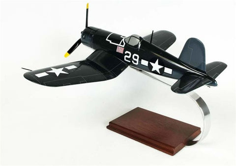 F4U-1 Navy Corsair 1/28 Scale Mahogany Model